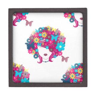 floral afro keepsake box
