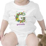 Floral Alphabet Name Baby Tee (Monogram G)
