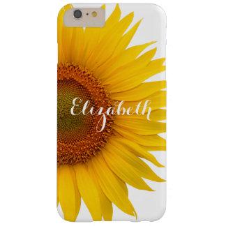 Floral amarillo de la flor del girasol funda de iPhone 6 plus barely there