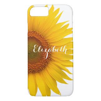Floral amarillo de la flor del girasol funda iPhone 7