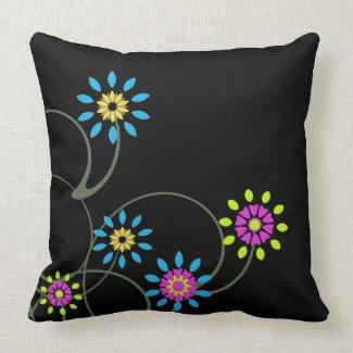 Floral American MoJo Pillow