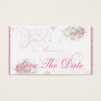 Floral Amore - Save The Date Card
