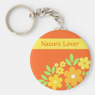 Floral anaranjado - llavero