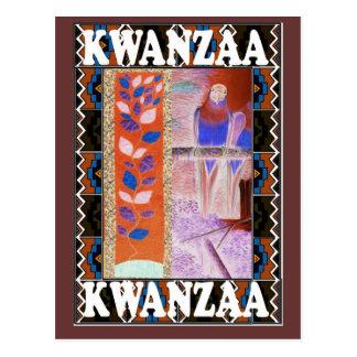Floral anaranjado y marrón de Kwanzaa - Postal