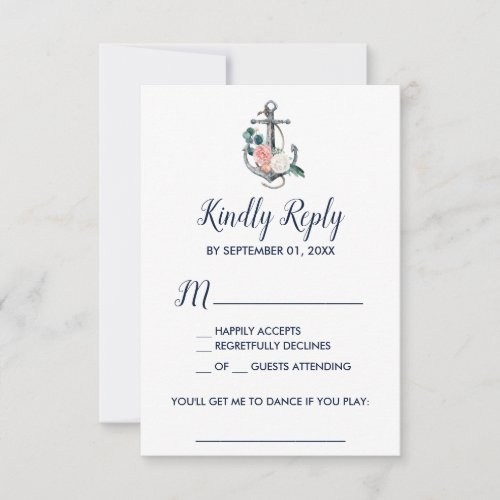 Floral Anchor | Summer Song Request RSVP Card