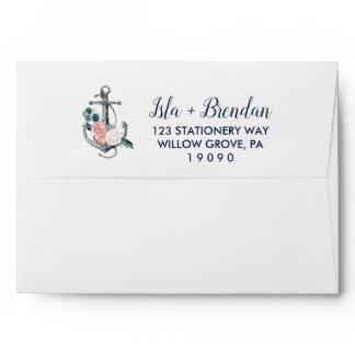 Floral Anchor | Summer Wedding Invitation Envelope