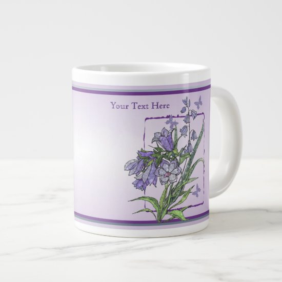 Floral and Butterfly JUMBO 20 Ounce Mug