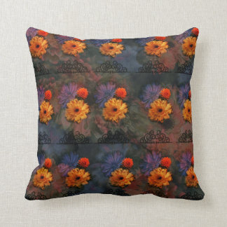 floral and damask Patterned Pillow