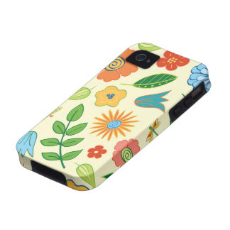Floral and Dragonfly Patterned iPhone 4 Case
