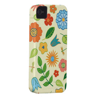 Floral and Dragonfly Patterned Case-Mate iPhone 4 Cases