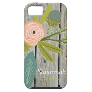 Floral and Fauna Barnwood iphone 5 case