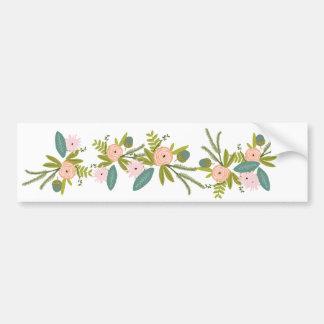 Floral and Fauna Bumper Sticker