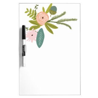 Floral and Fauna Dry-Erase Board