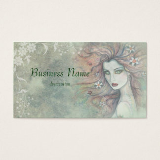 Floral and Feminine Business Cards