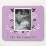 Floral and Fern PHOTO template (purple) Mouse Pad