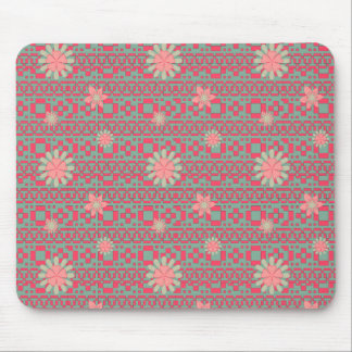 Floral and Geometric Shapes Pattern Mouse Pad