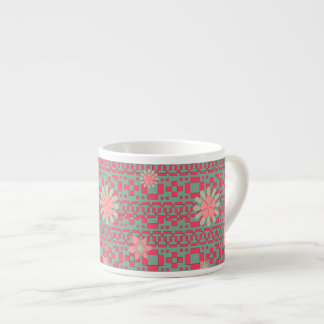 Floral and Geometric Shapes Pattern Specialty Mug