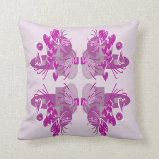 Floral and hearts design cushion