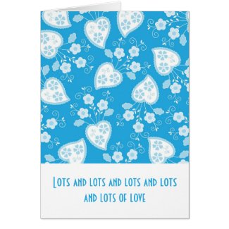 Floral and hearts greeting card