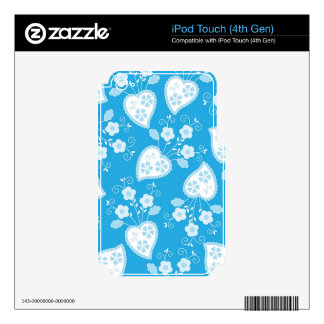 Floral and hearts skins for iPod touch 4G