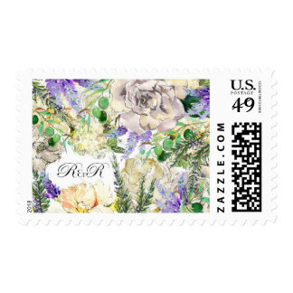 Floral and Herb Wedding Stamp