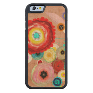 Floral and Inspiring Carved Maple iPhone 6 Bumper Case