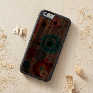 Floral and Inspiring Carved Walnut iPhone 6 Bumper Case