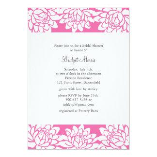 Floral and Modern Bridal Shower Invitation