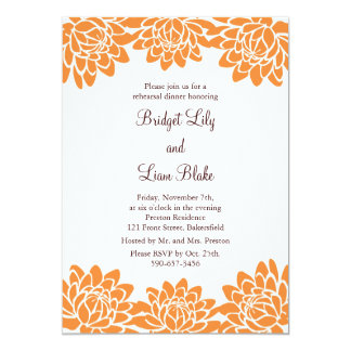 Floral and Modern Rehearsal Dinner 5x7 Paper Invitation Card