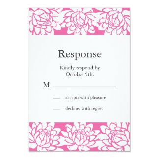 Floral and Modern RSVP 3.5x5 Paper Invitation Card