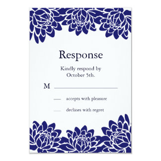 Floral and Modern RSVP Invite
