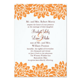 Floral and Modern Wedding Invitation