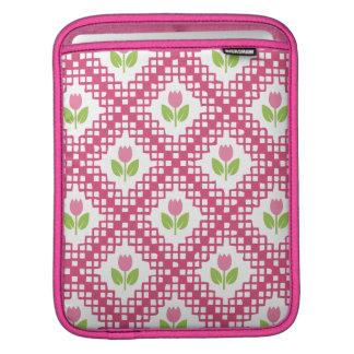 Floral and Quilt Pattern iPad Sleeve