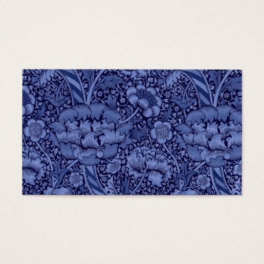 Floral and Ribbon in Blue Business Card