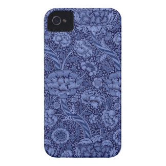 Floral and Ribbon in Blue iPhone 4 Case-Mate Case