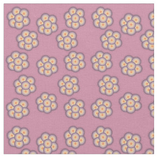 Floral and star pattern fabric