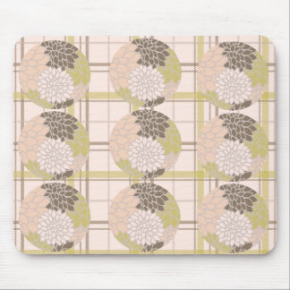Floral and Stripe Abstract Mouse Pad