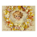 Floral Angel in a Heart Postcard