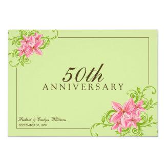 Floral Anniversary Party Custom Invitation (sage)