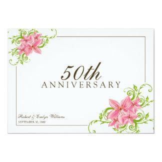 Floral Anniversary Party Custom Invitation (white)