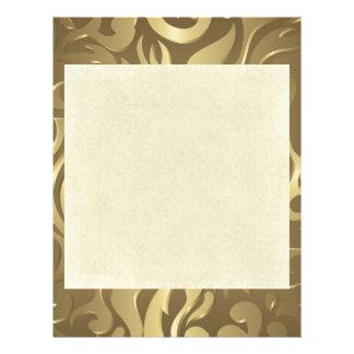 Floral,antique,gold,pattern,vintage,elegant,chic, Letterhead