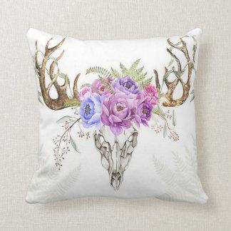 Floral Antler Pillow