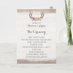 deer wedding programs zazzle