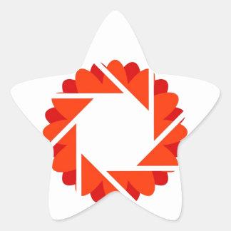 Floral aperture star sticker