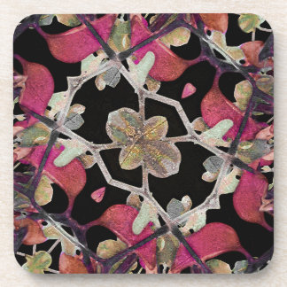 Floral Arabesque Decorative Artwork Coasters
