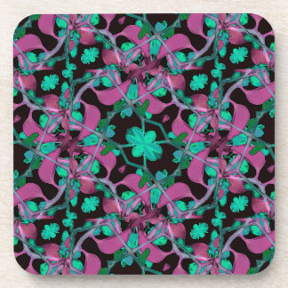 Floral Arabesque Pattern Coaster