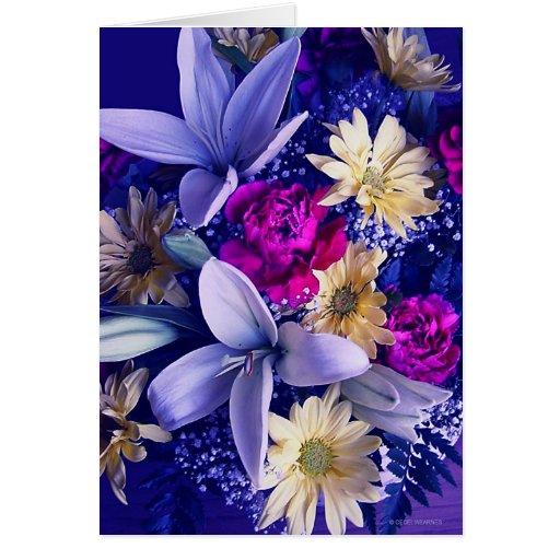Floral arrangement b card zazzle