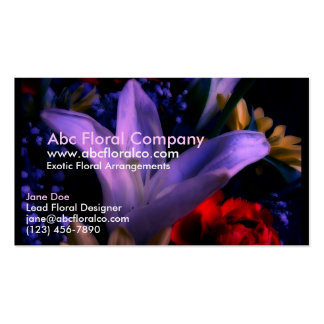 Floral Arrangement 423 Double-Sided Standard Business Cards (Pack Of 100)