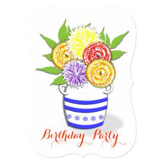 Floral Arrangement Birthday Party Celebrations Card