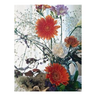 Floral arrangement in glass vase flyer
